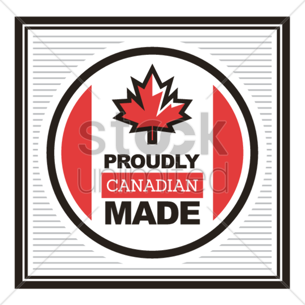 Proudly canadian made label Vector Image - 1586856