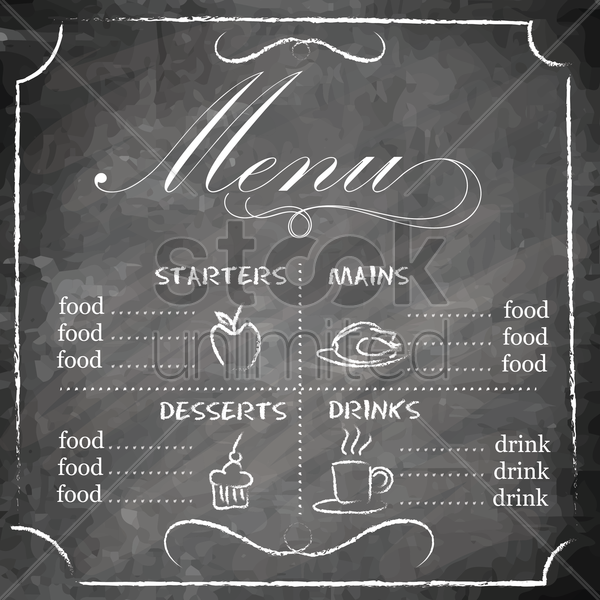 restaurant menu design vector graphic