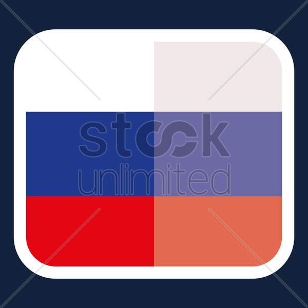 Russia flag sticker vector graphic