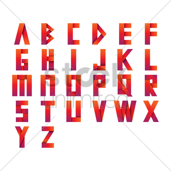 Free set of alphabets vector graphic