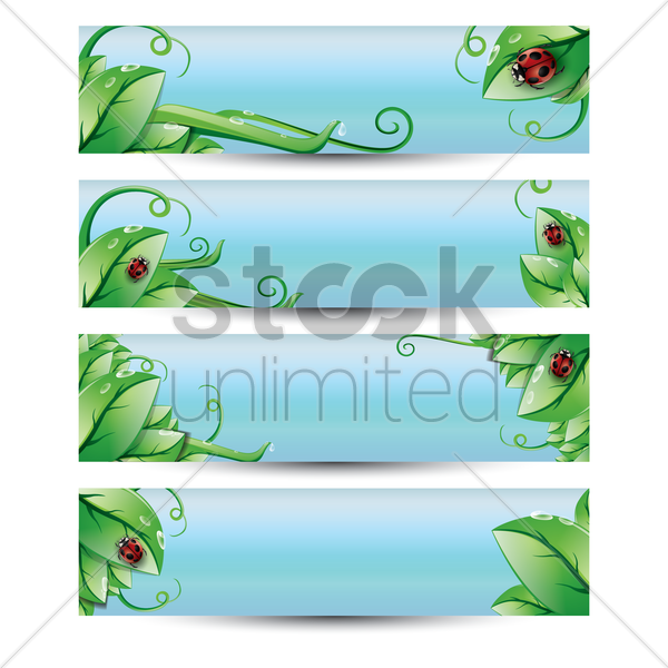 set of banners vector graphic