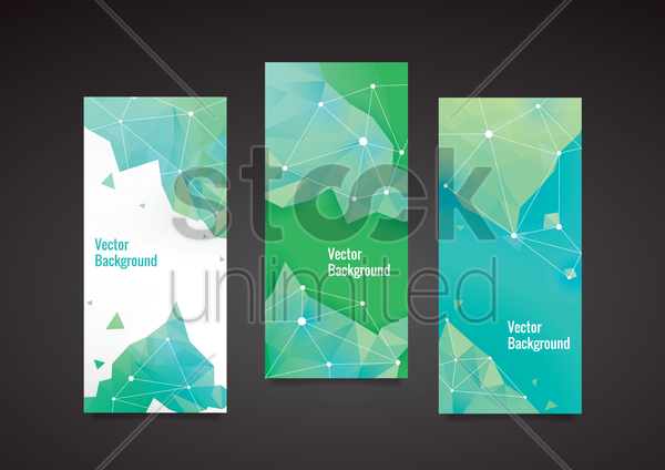 Free set of faceted background vector graphic