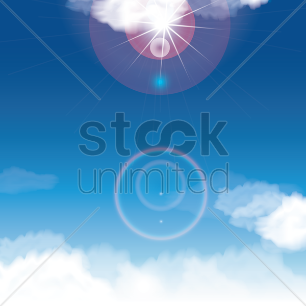 Free sky background vector graphic