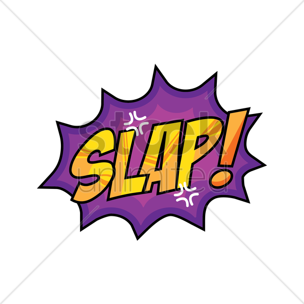 slap comic speech bubble vector graphic