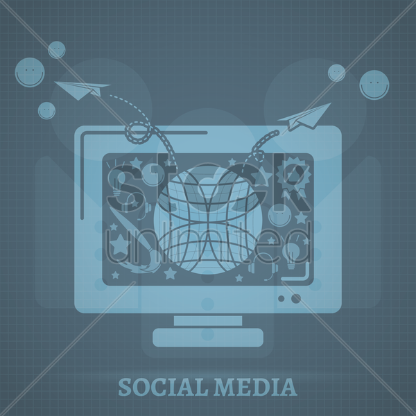 social media vector graphic