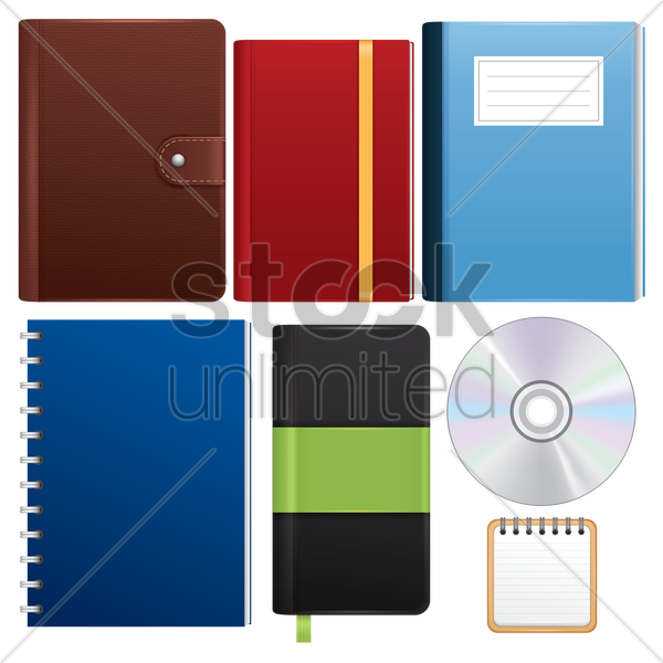 stationery supplies set vector graphic