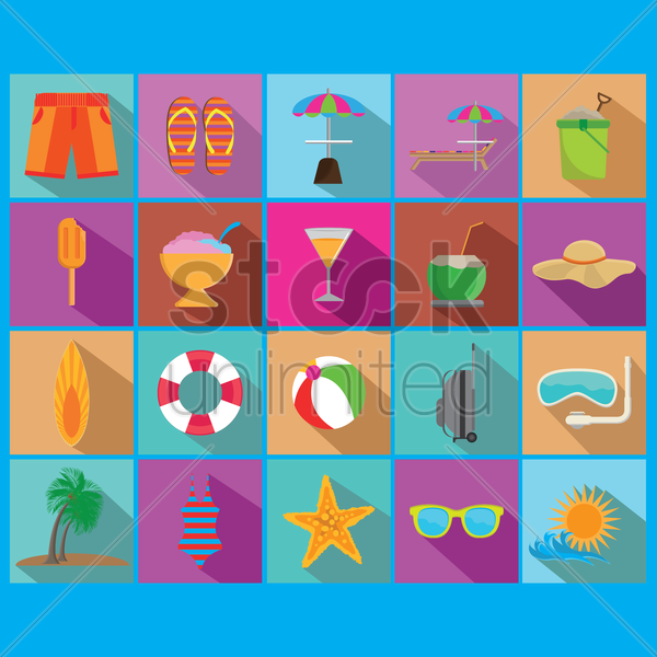 summer collection vector graphic
