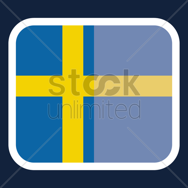 Sweden flag sticker vector graphic