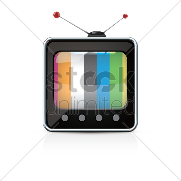 television vector graphic