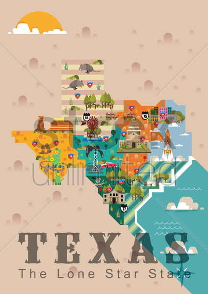 texas the lone star state vector graphic