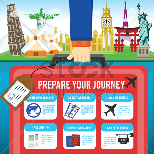 travel infographic vector graphic