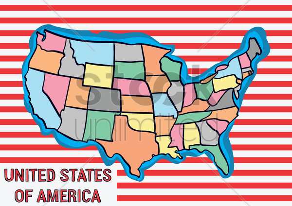 united states of america map vector graphic