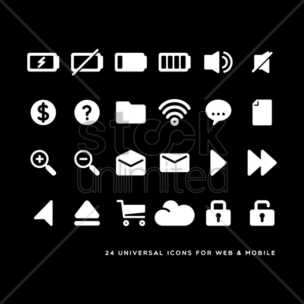 web and mobile icons vector graphic