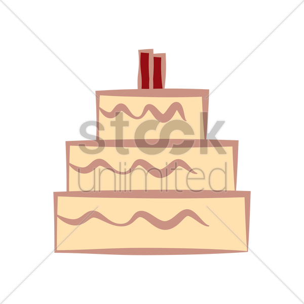 Wedding cake Vector Image - 2020648 | StockUnlimited