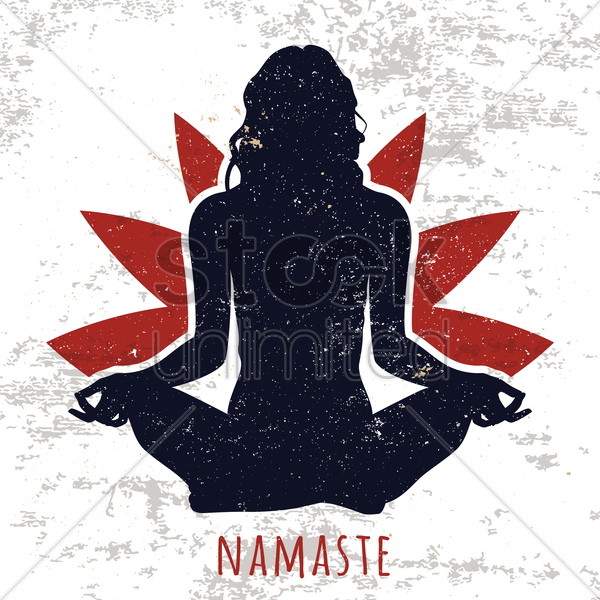 yoga design vector graphic