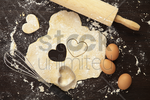 baking with love concept stock photo