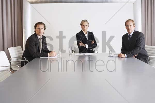 business executive team in conference room stock photo