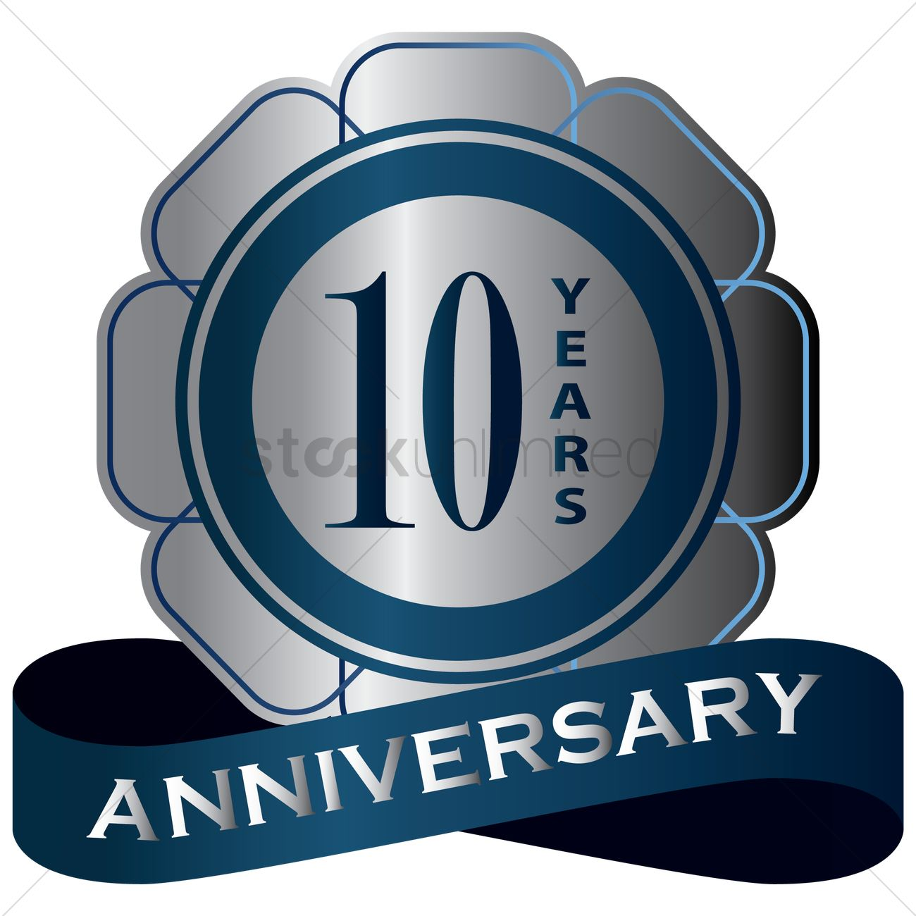 10 Years Anniversary Label Vector Image 1414704 Stockunlimited