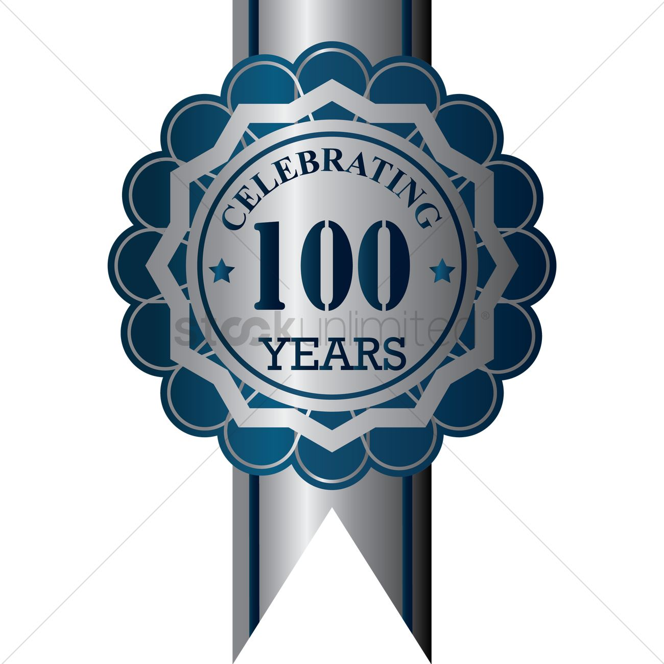 100 Years Anniversary Label Vector Image 1414764 Stockunlimited