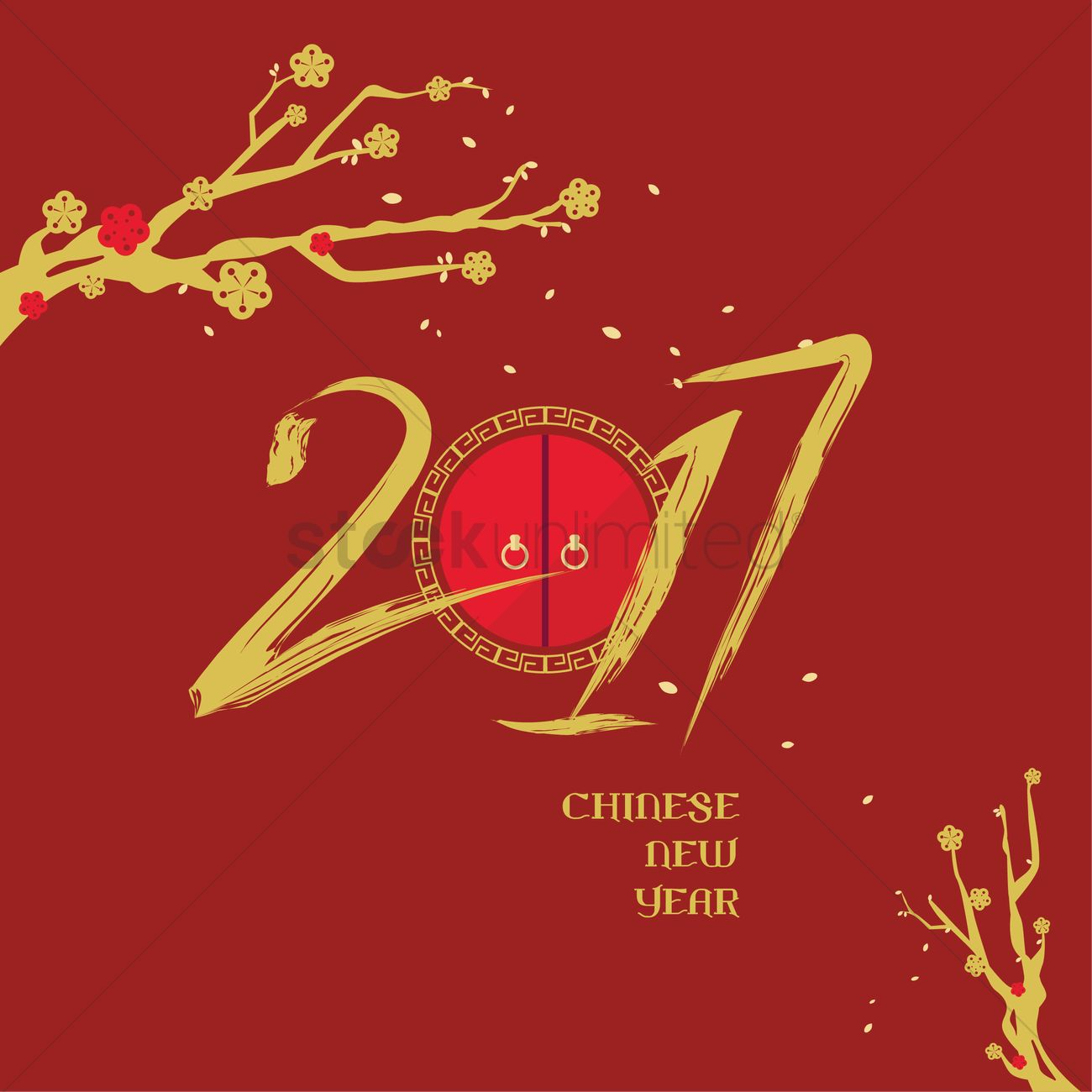 2017 chinese new year vector graphic - Chinese New Year 1973