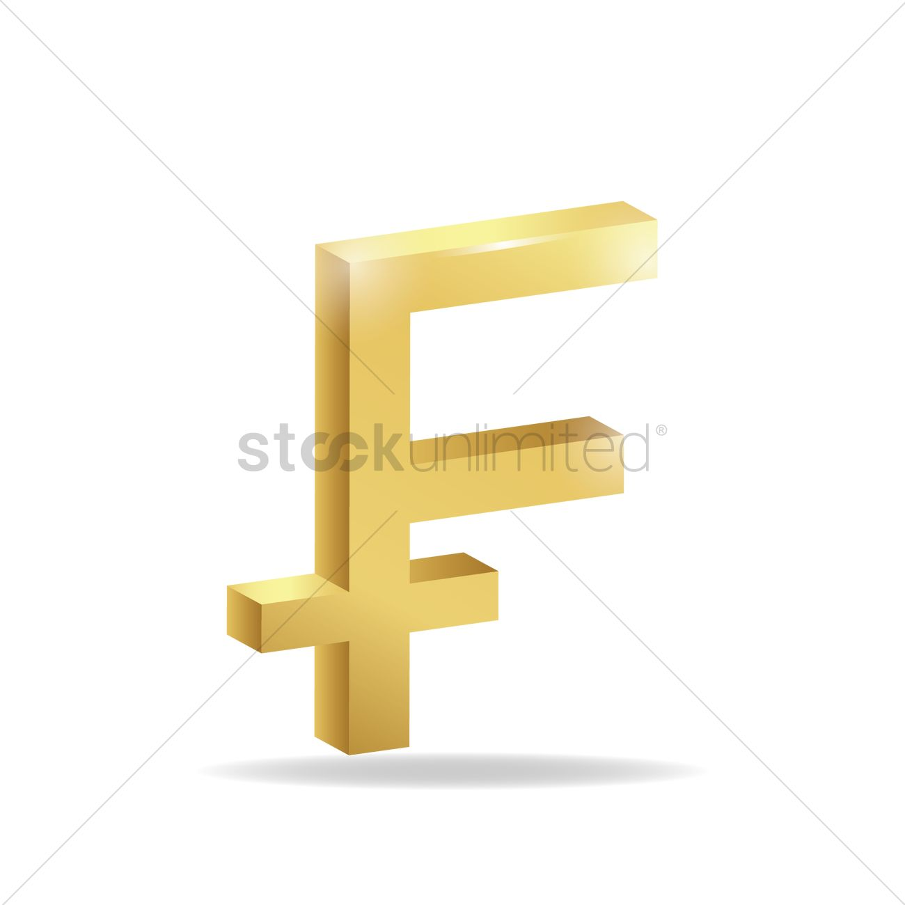 3d Franc Currency Symbol Vector Image 1827788 Stockunlimited
