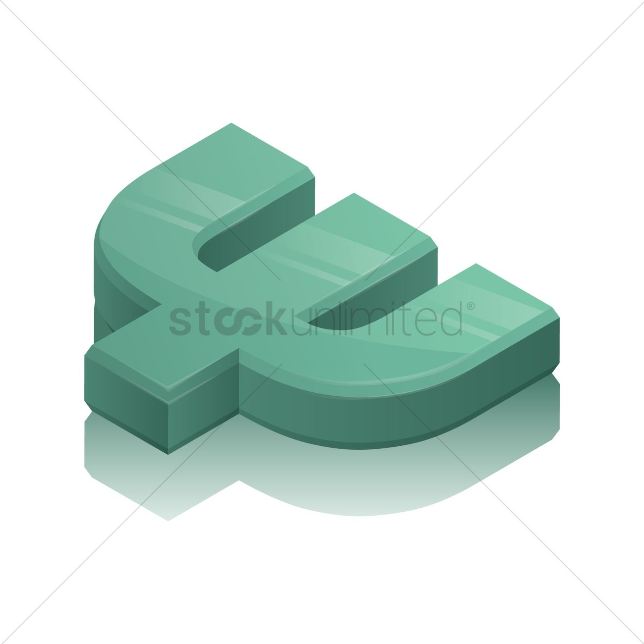 3d greek alphabet symbol vector graphic
