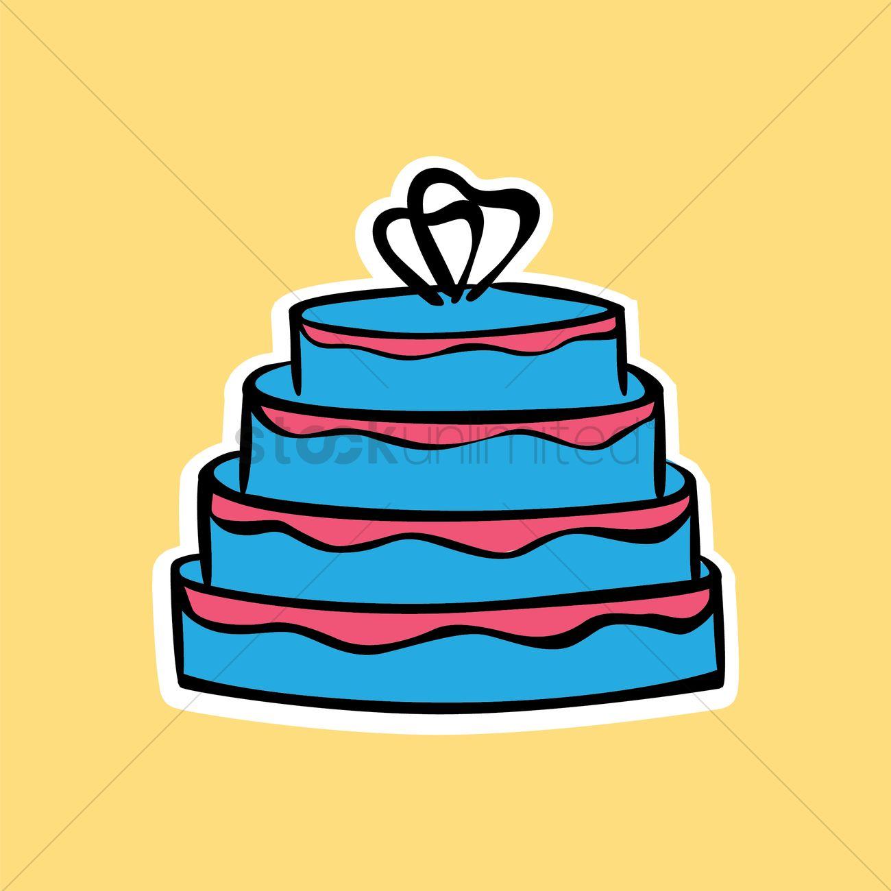 4 tier wedding cake Vector Image - 1461428 | StockUnlimited
