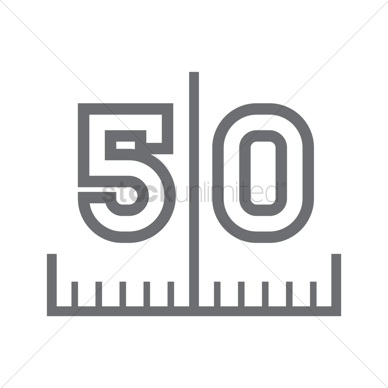 50 Yard Line On American Football Field Vector Image 1983584