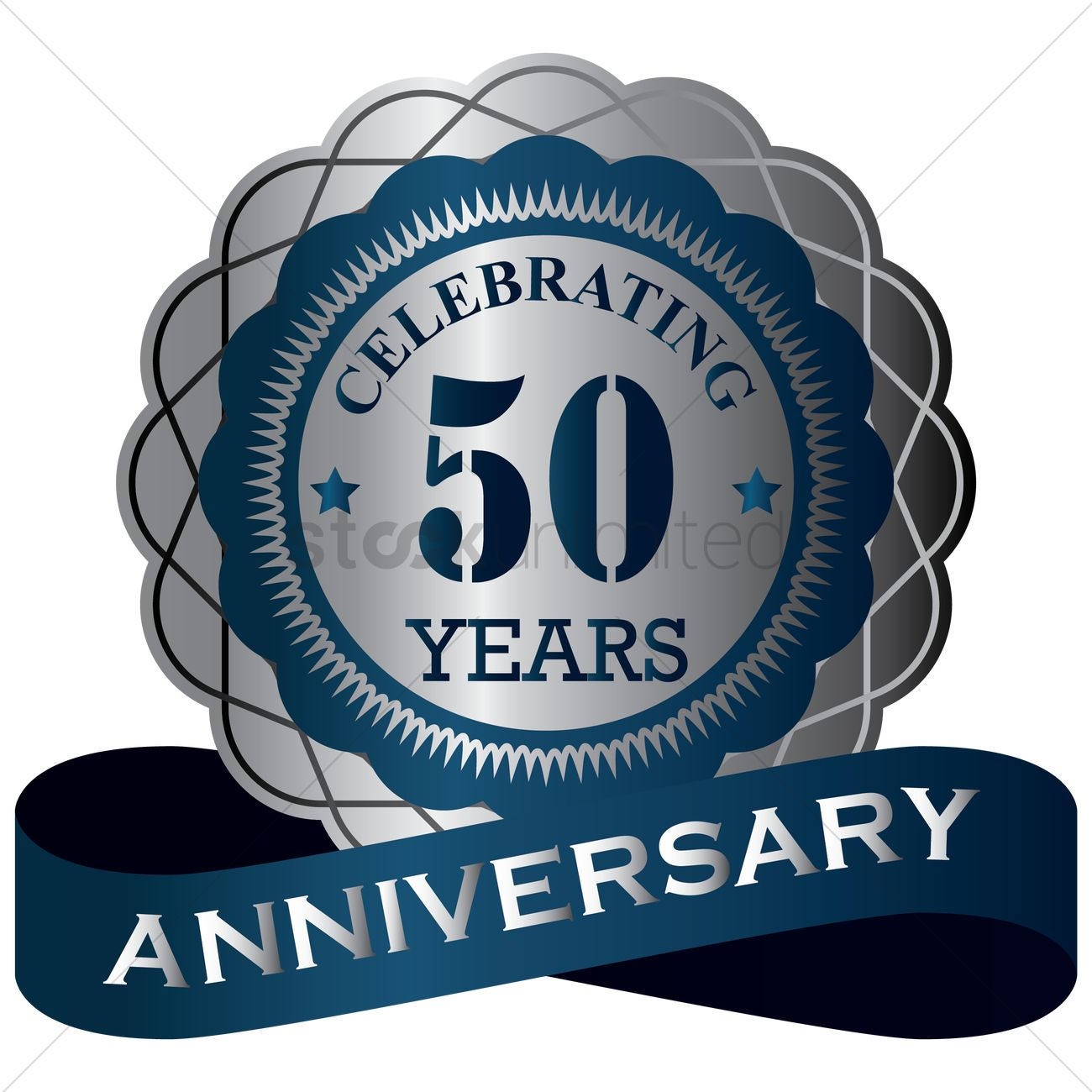 50 Years Anniversary Label Vector Image 1414740 Stockunlimited