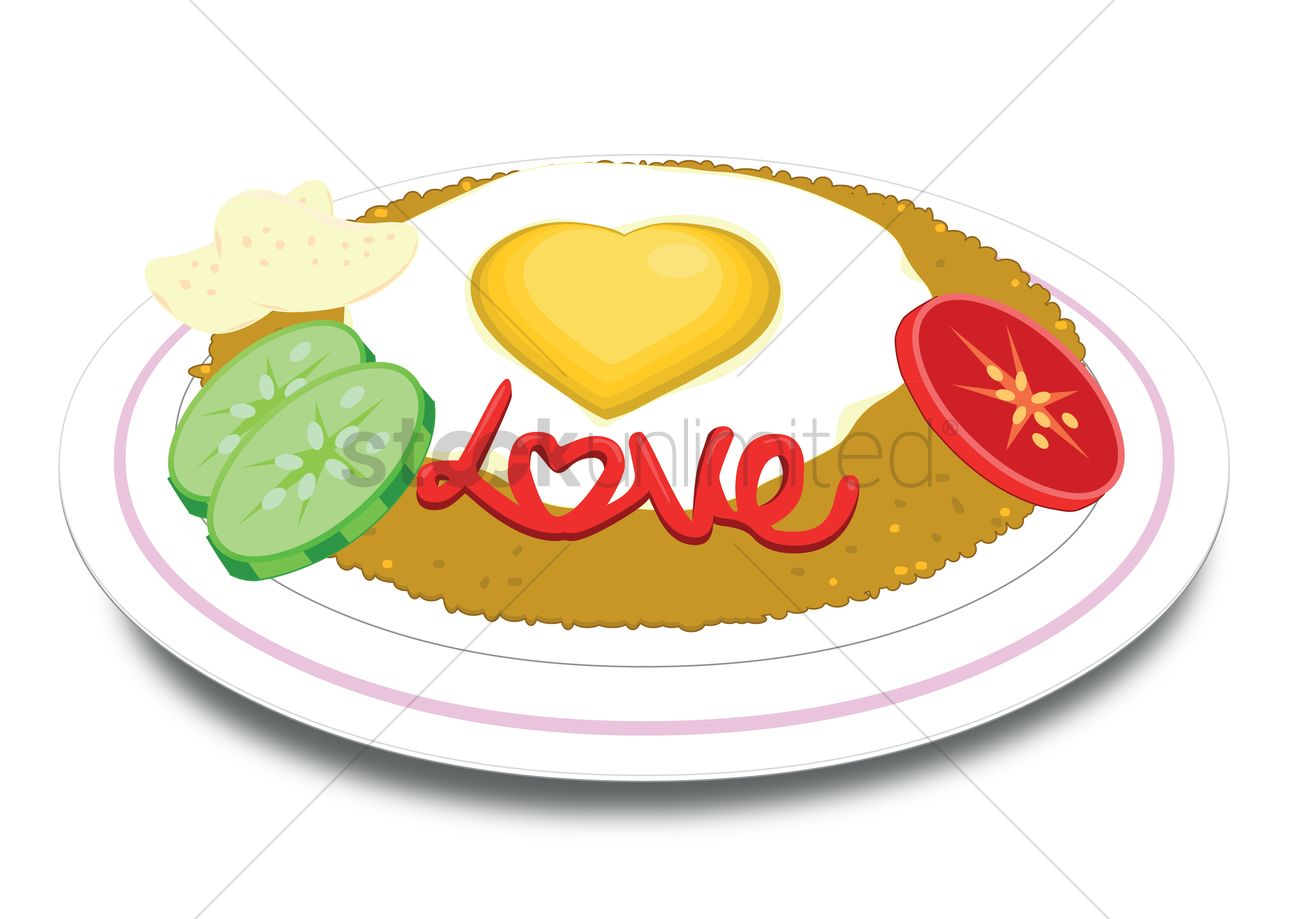 Free A plate of fried rice Vector Image - 1270604 | StockUnlimited for Plate With Food Clipart  270bof