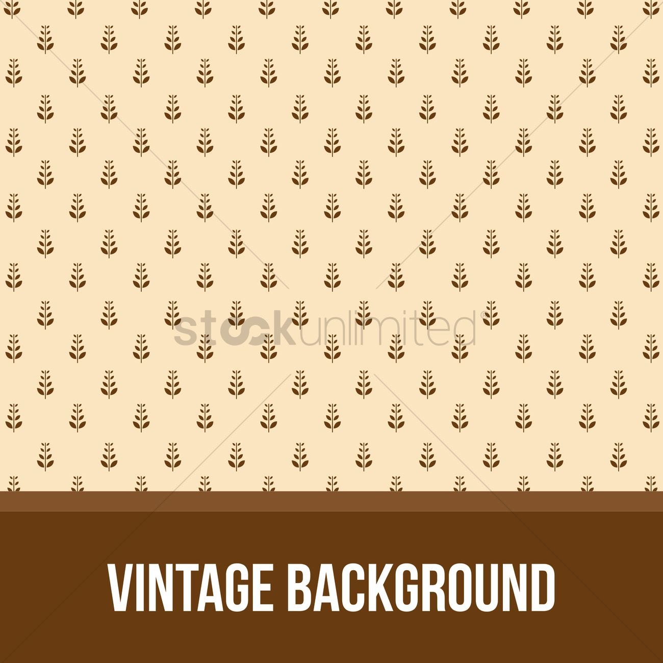 Abstract Vintage Floral Background Vector Image 1294140