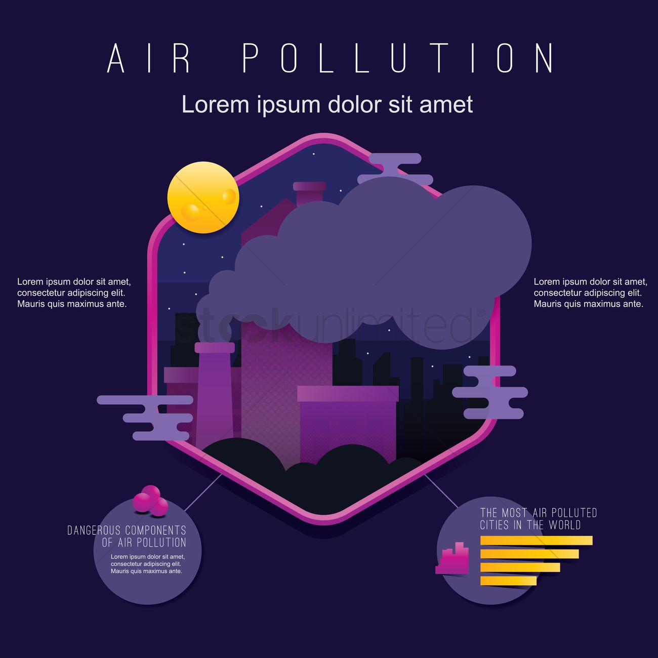 Air Pollution Design Vector Image 1976208 Stockunlimited Diagram Graphic
