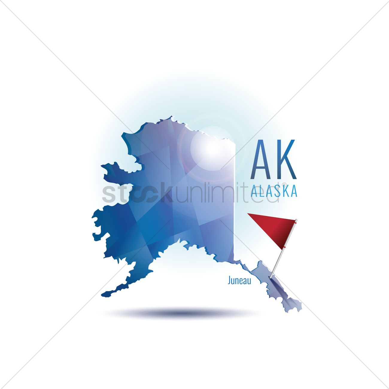 Alaska Map With Capital City Vector Image 1536828 Stockunlimited