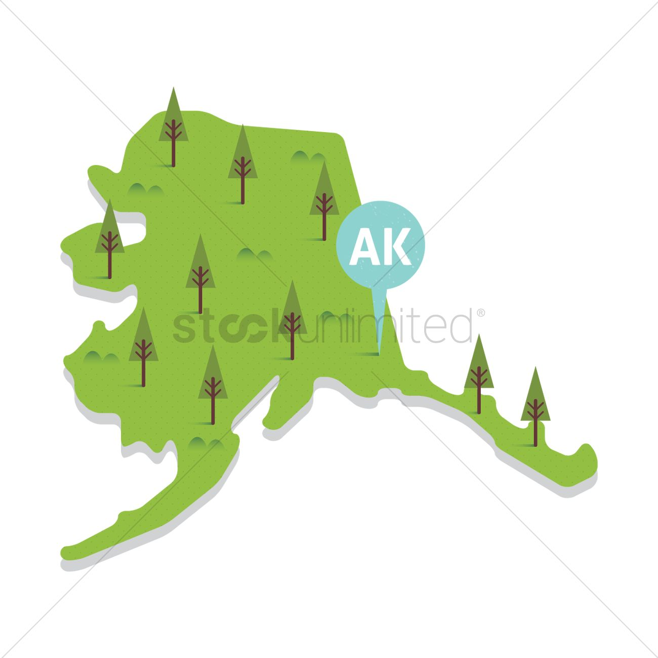 Free Alaska State Map Vector Image 1556852 Stockunlimited