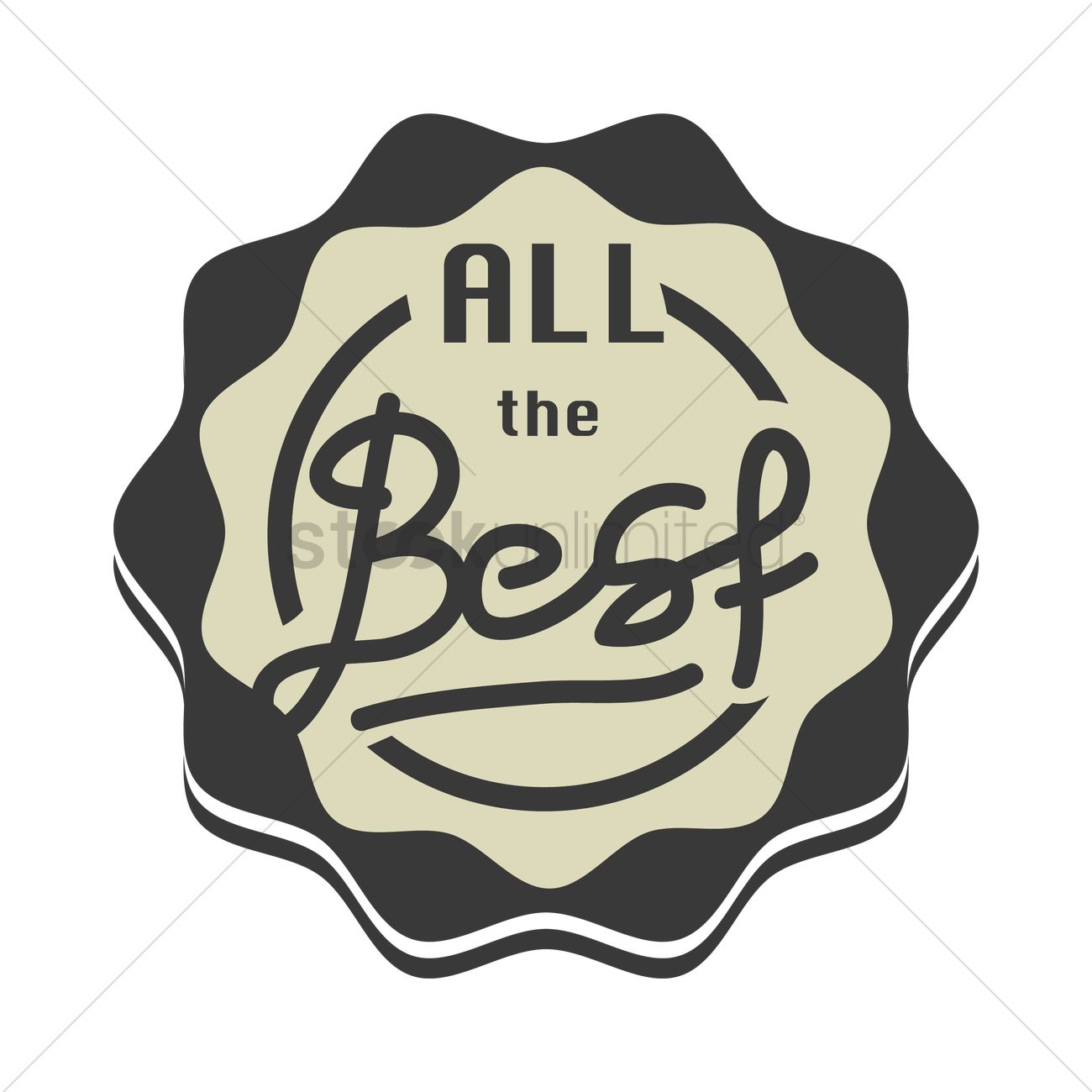 all the best stamp seal vector image 1710228 stockunlimited