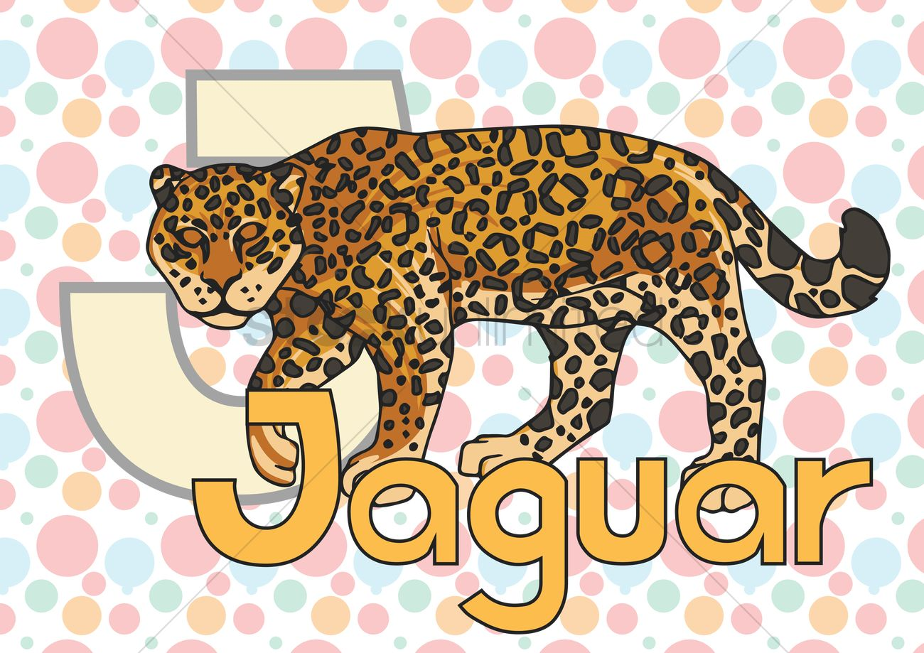 Alphabet J For Jaguar Vector Graphic