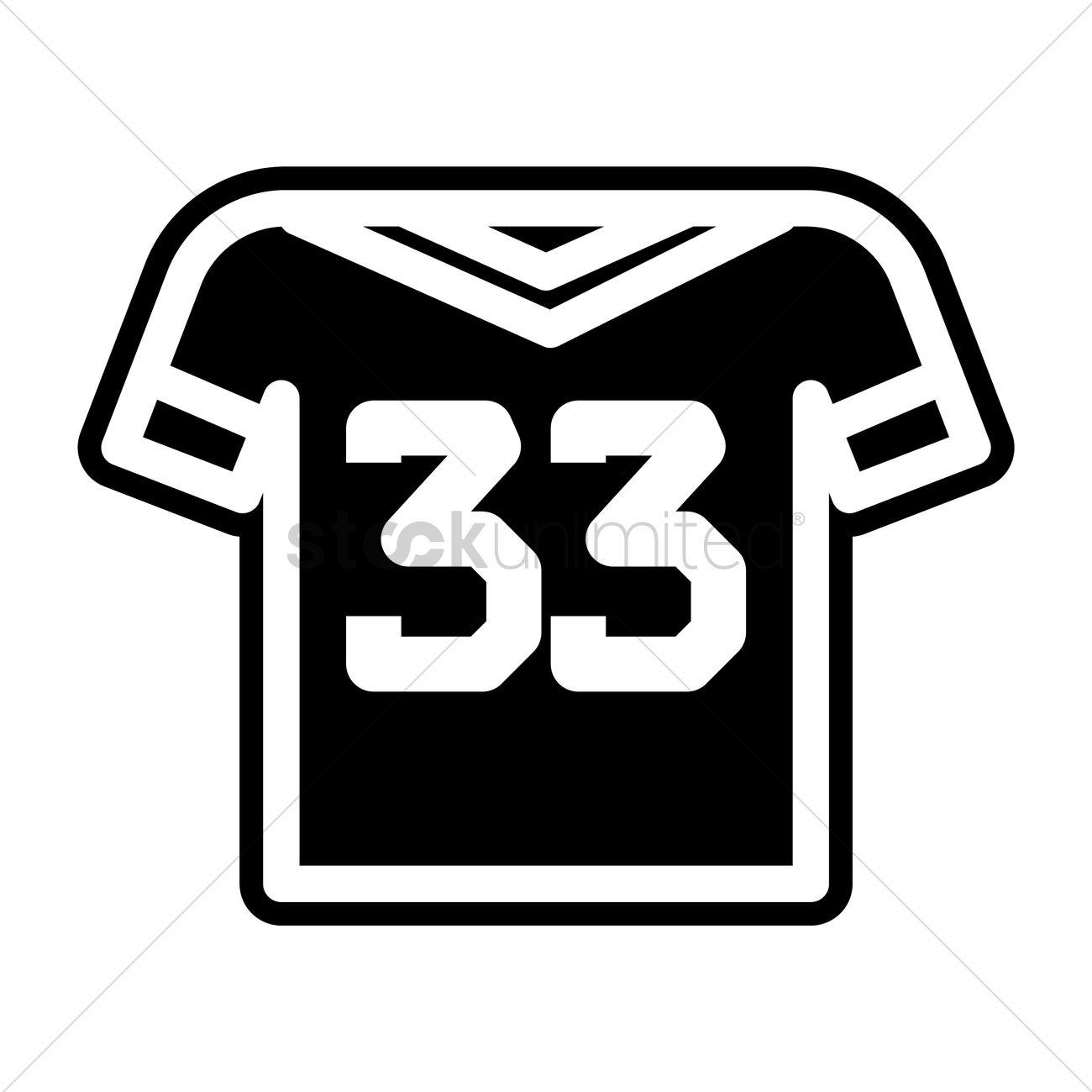 half off c8b95 ba1aa American football jersey Vector Image - 1988176   StockUnlimited