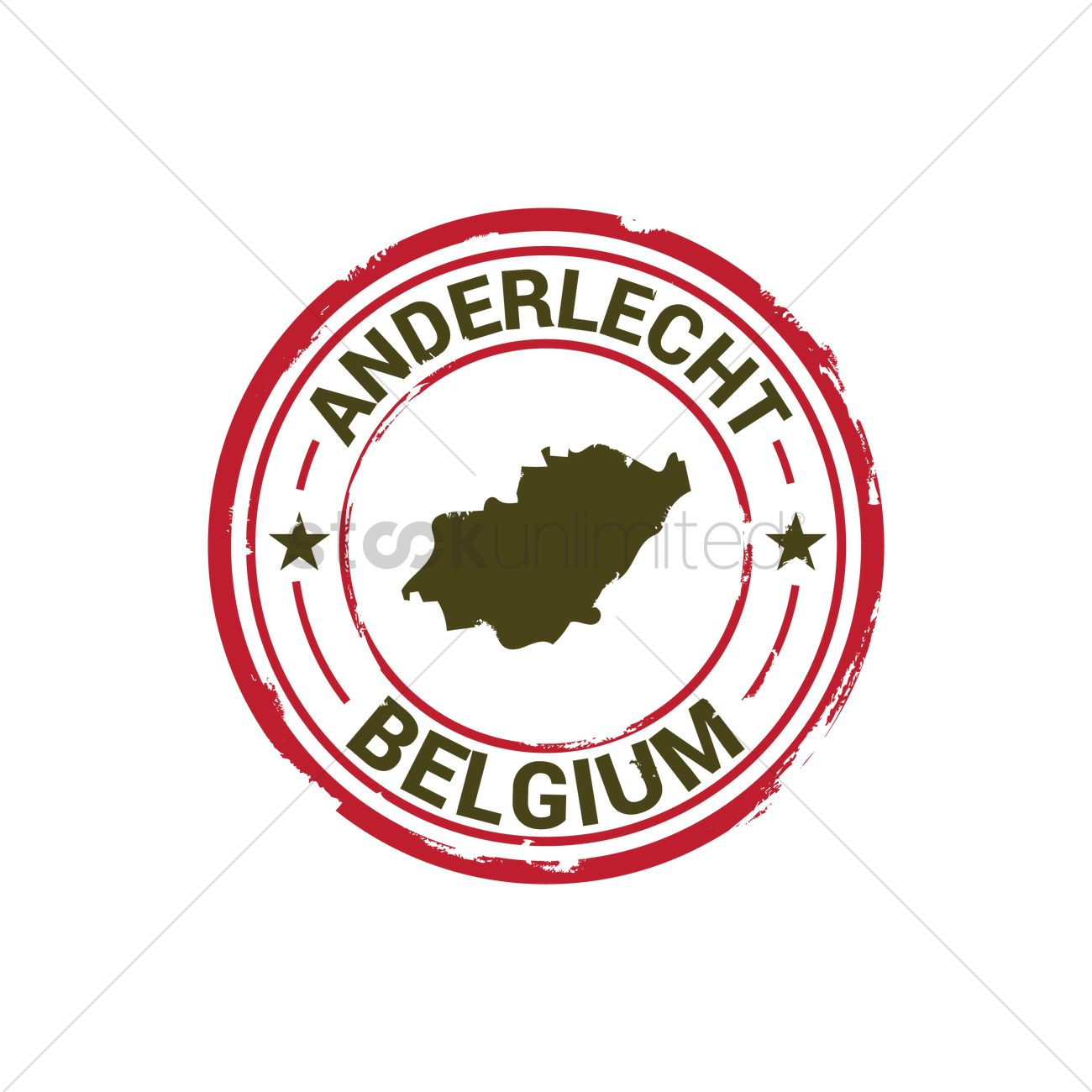 Anderlecht map stamp Vector Image 1581464 StockUnlimited
