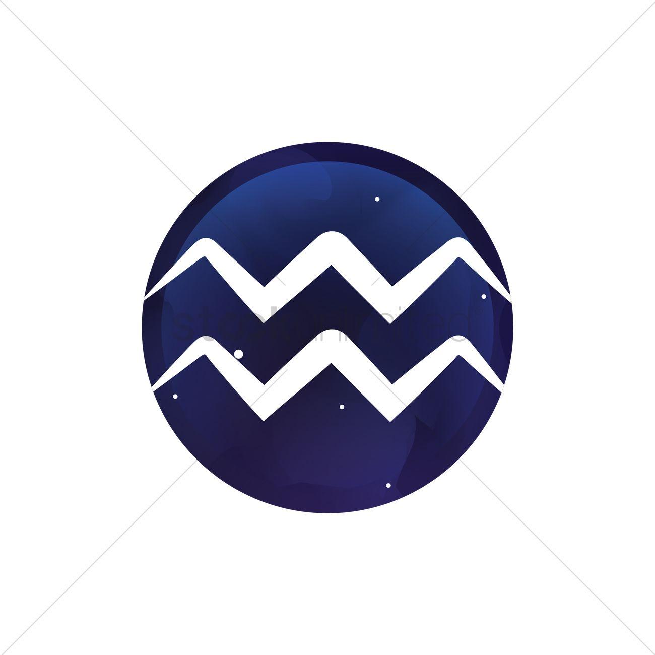 Aquarius Symbol Vector Image 1988804 Stockunlimited