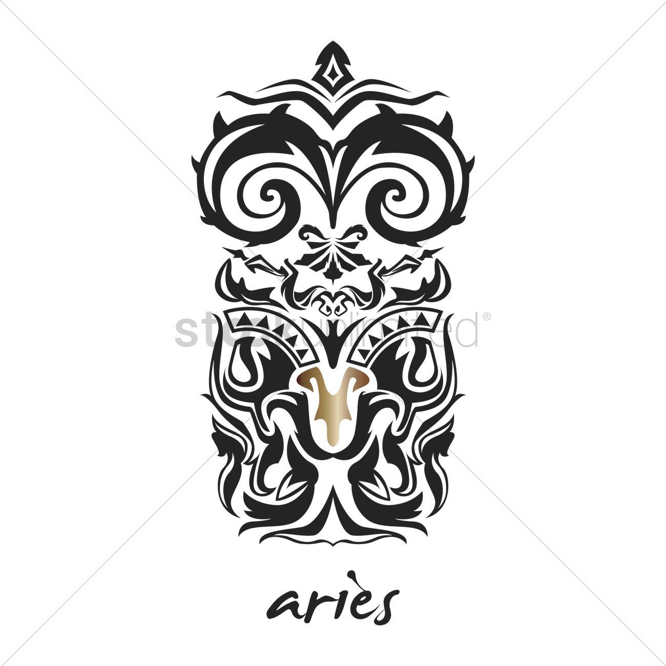 Aries tattoo horoscope design vector image 1969160 stockunlimited aries tattoo horoscope design vector graphic biocorpaavc