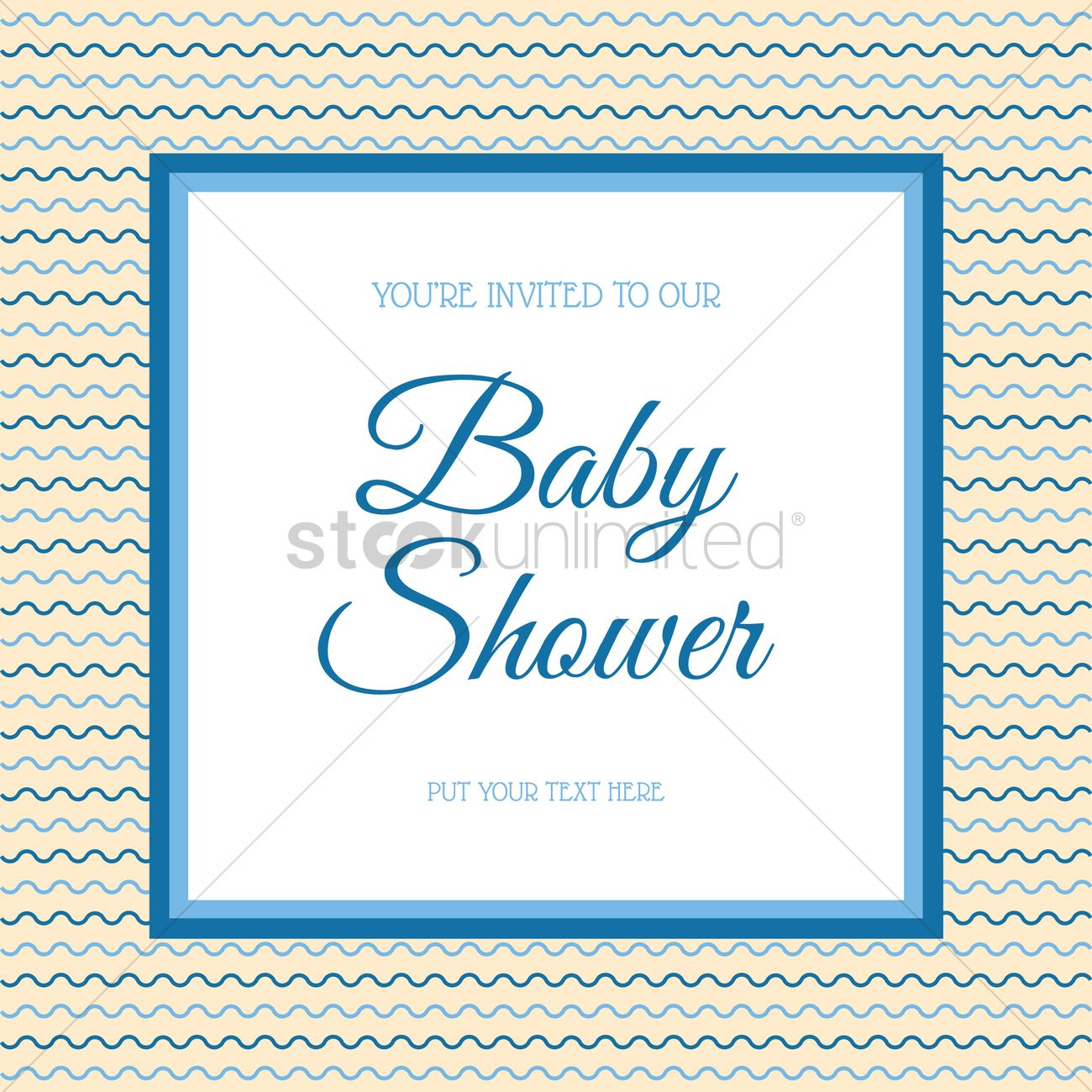 Baby shower invitation vector image 1795964 stockunlimited baby shower invitation vector graphic stopboris Choice Image
