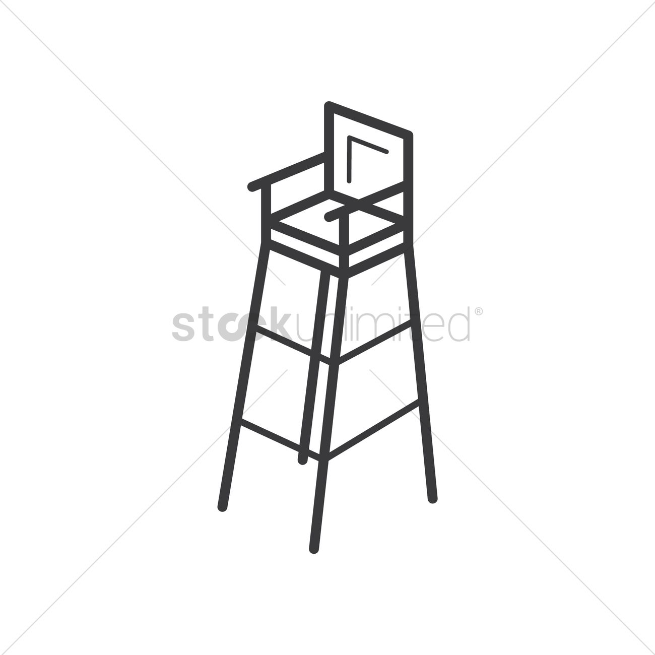badminton umpire chair vector graphic  sc 1 st  StockUnlimited & Badminton umpire chair Vector Image - 2029924 | StockUnlimited