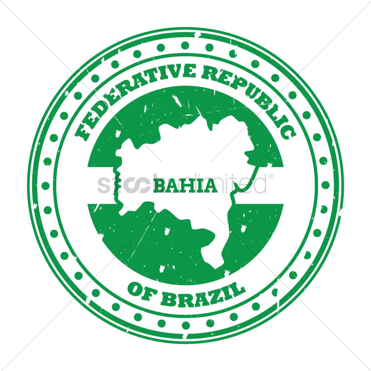 Bahia map stamp Vector Image - 1580376   StockUnlimited
