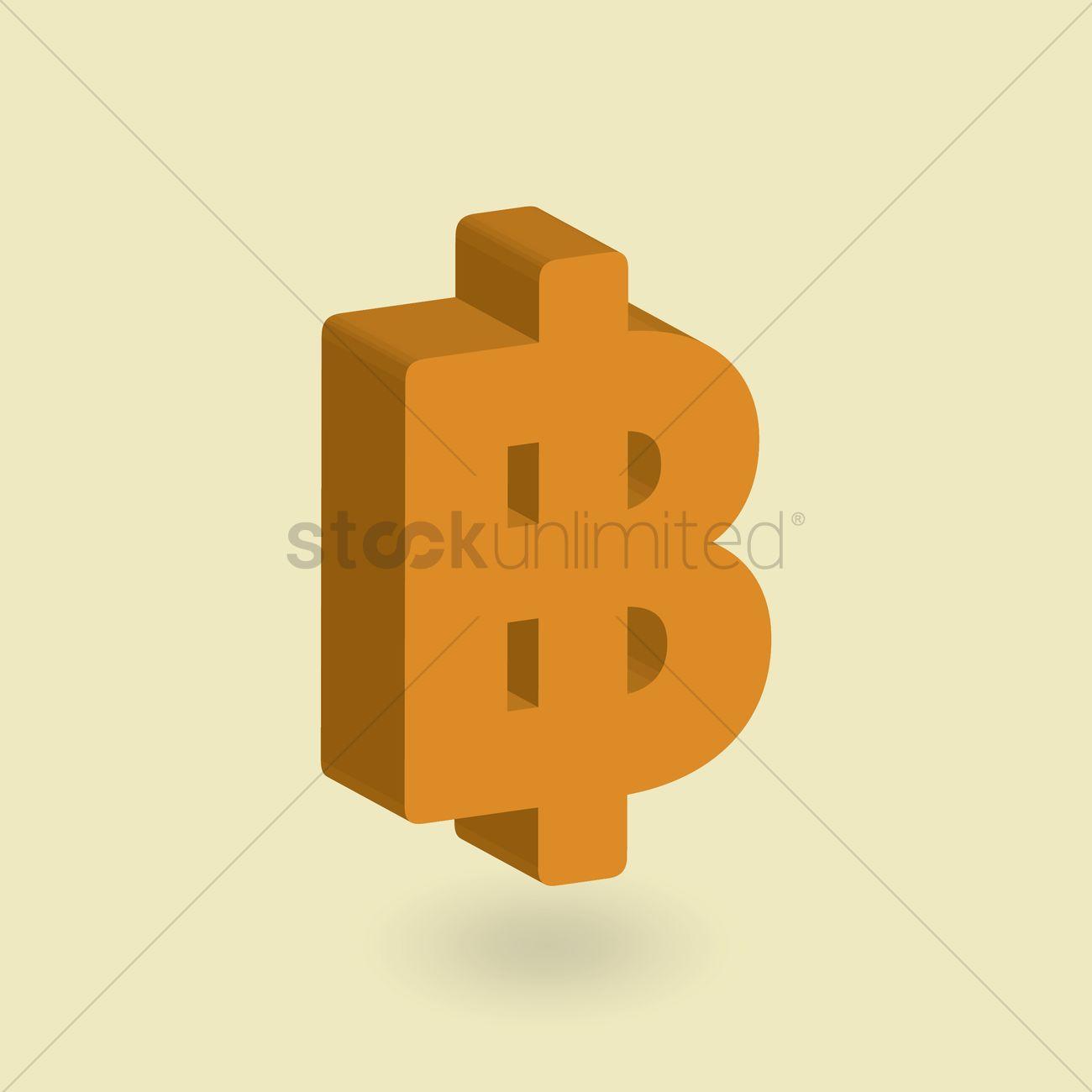 Baht Symbol Vector Image 1636052 Stockunlimited