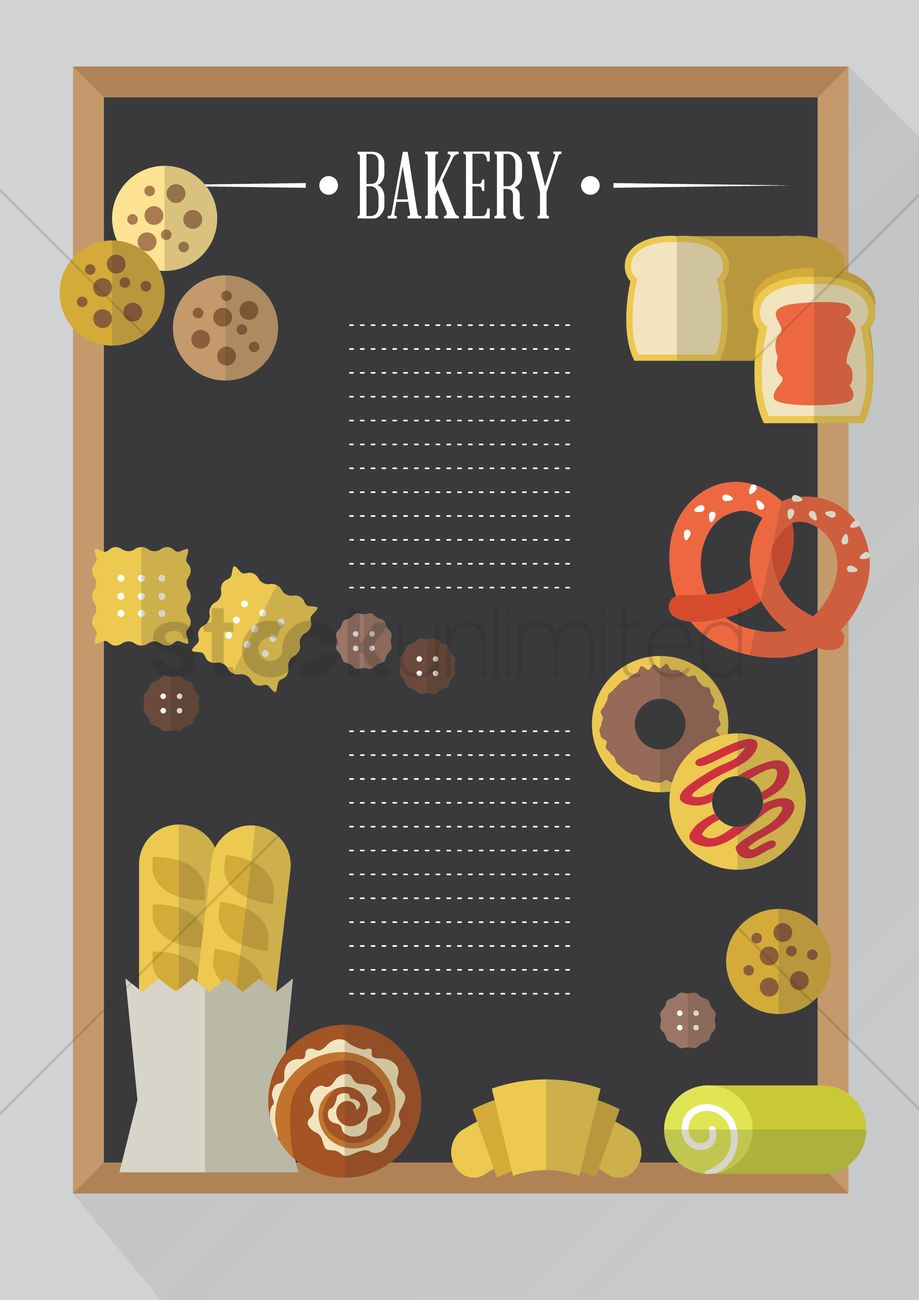 Bakery menu card vector image 1419532 stockunlimited bakery menu card vector graphic thecheapjerseys Images