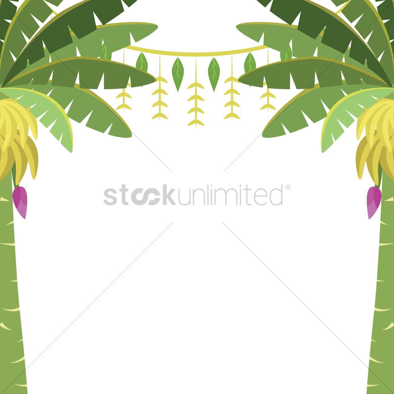 Banana trees with toran Vector Image - 1244172 ...