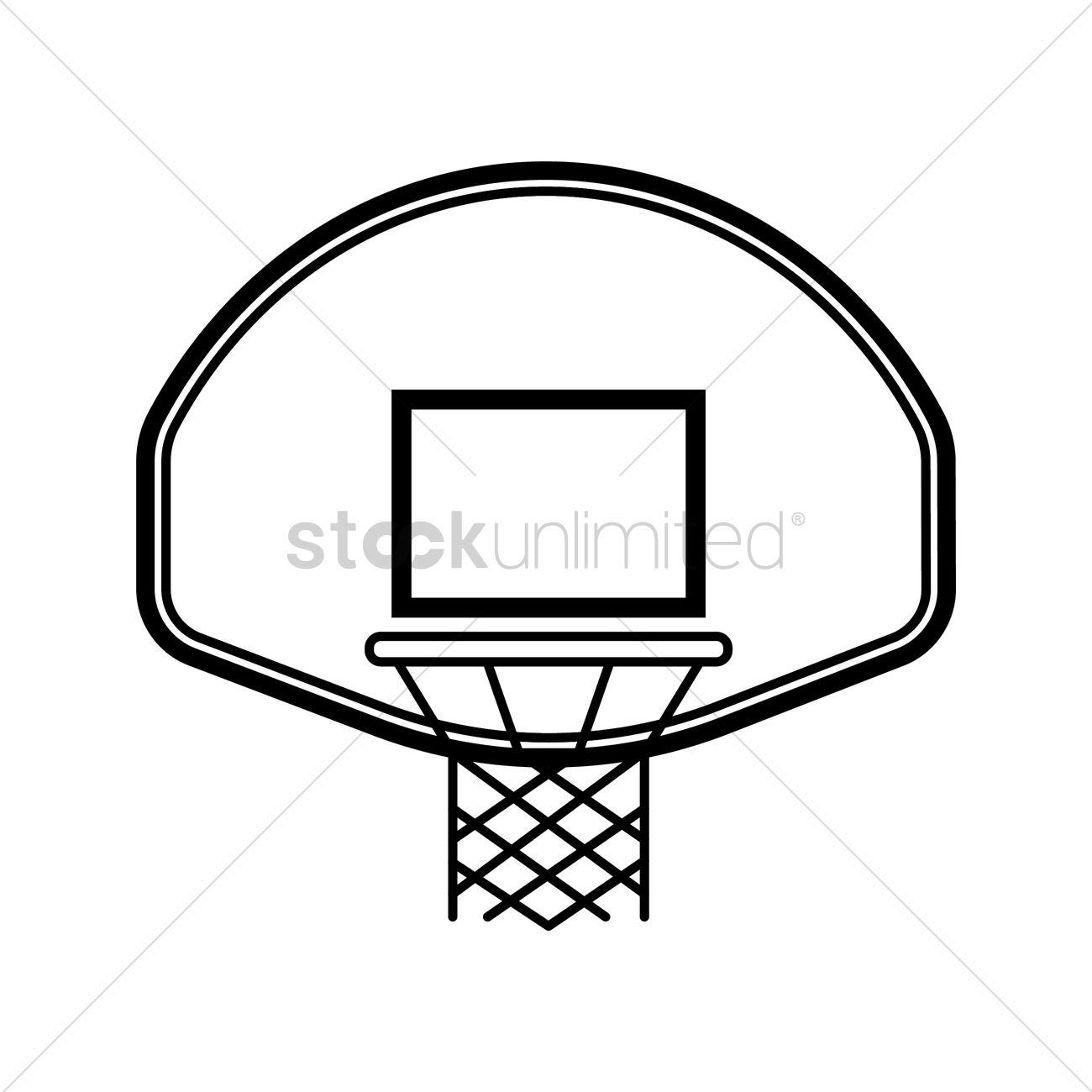 Basketball backboard and rim Vector Image - 1984720 ...
