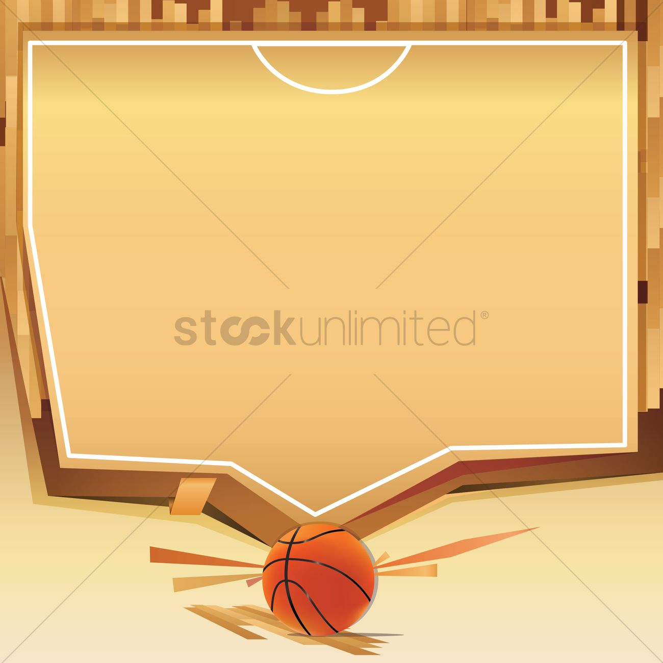 Basketball Court Template Vector Image 1538348 Stockunlimited