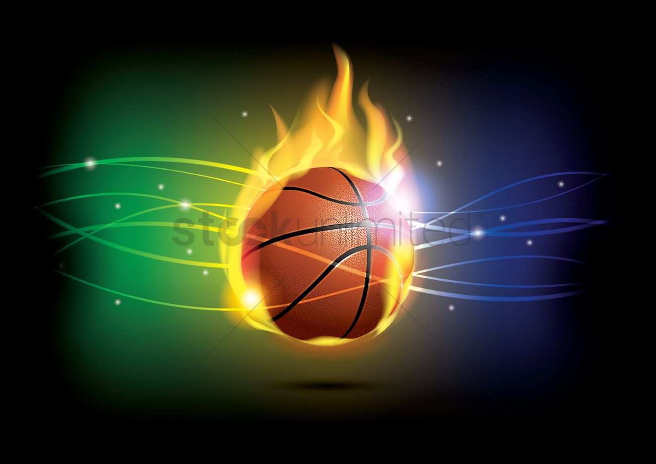 Basketball Theme Wallpaper Vector Graphic