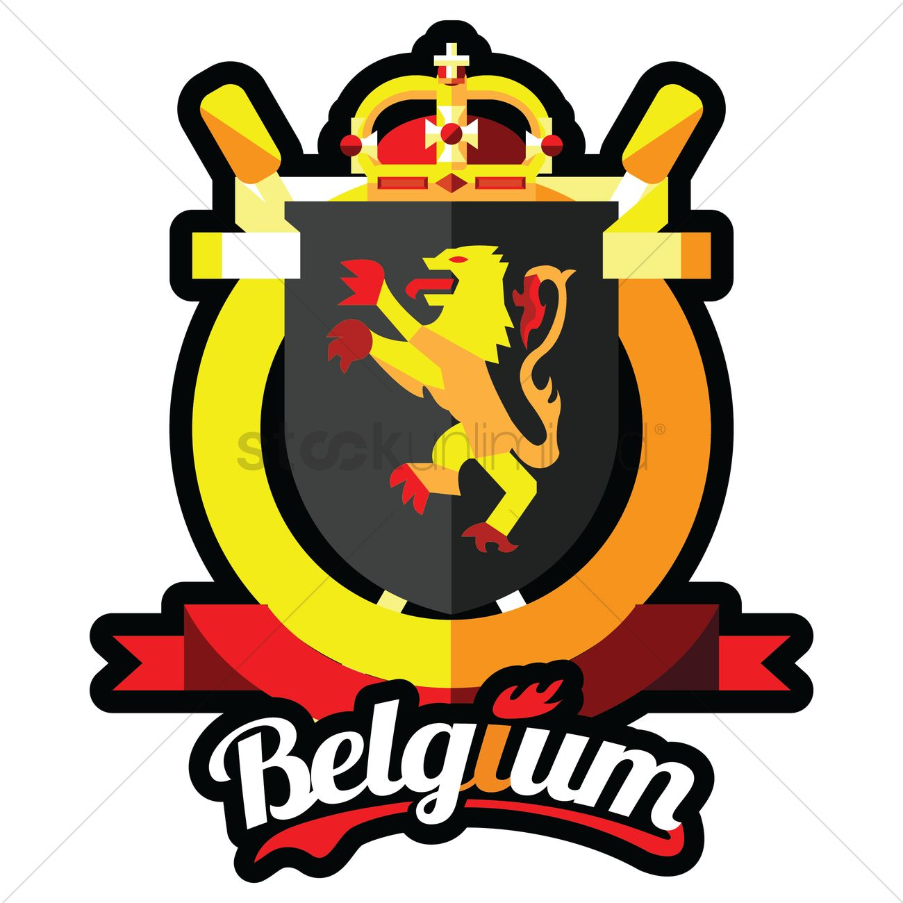 belgium coat of arms vector image 1588040 stockunlimited rh stockunlimited com